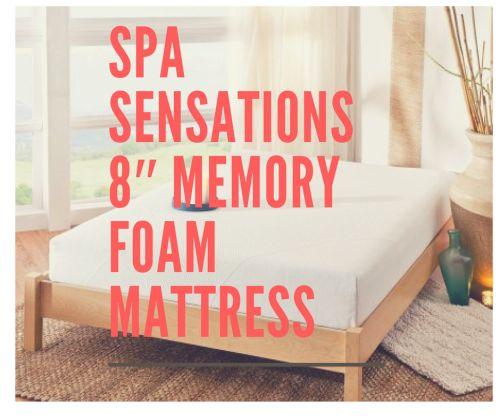 Spa Sensations 8 Memory Foam Mattress Mattress Review Center